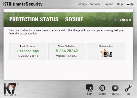 K7 Ultimate Security 15.1.0337