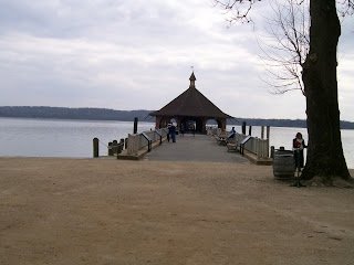 Wharf on the Potomac River, at Mount Vernon.