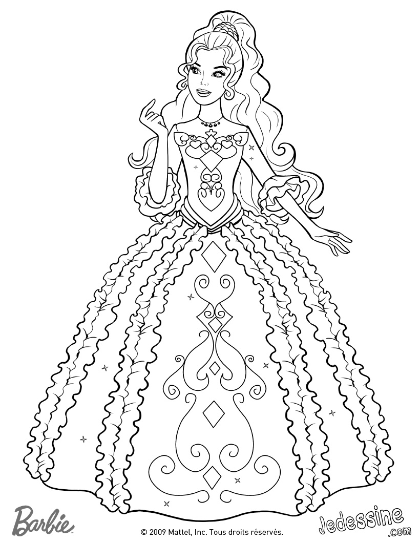 Coloriage Barbie Mousquetaire Liberate