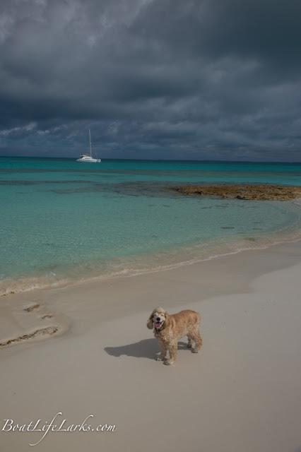 Sailboat at anchor, Bennet's Harbor, Cat Island