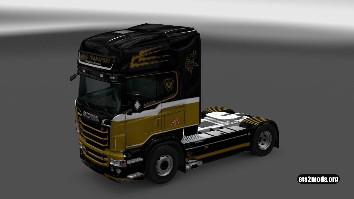 Gold Transport Skin for Scania RJL