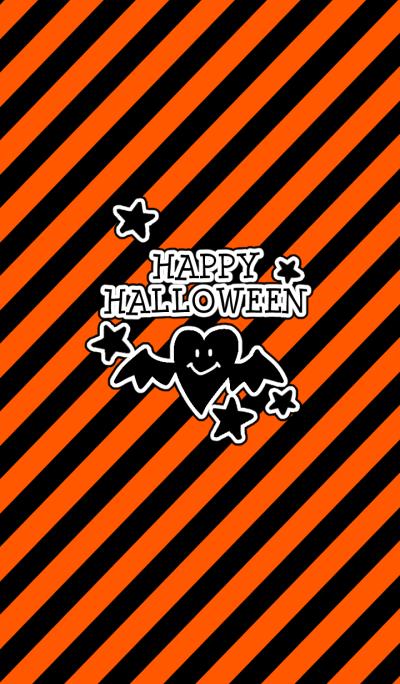 Halloween bat heart