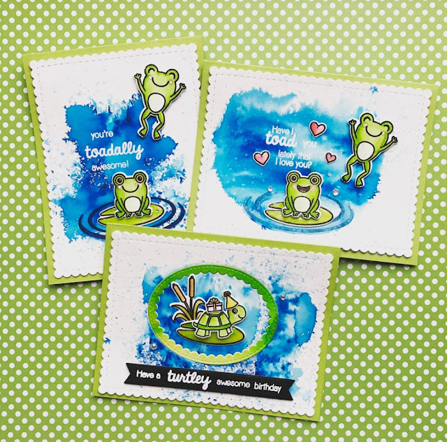Sunny Studio Stamps: Froggy Friends and Turtley Awesome card set by Kine
