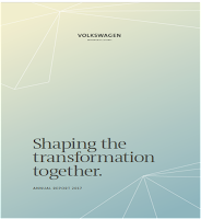 Front page of VW 2017 annual report