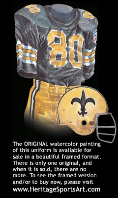 New Orleans Saints 1969 uniform