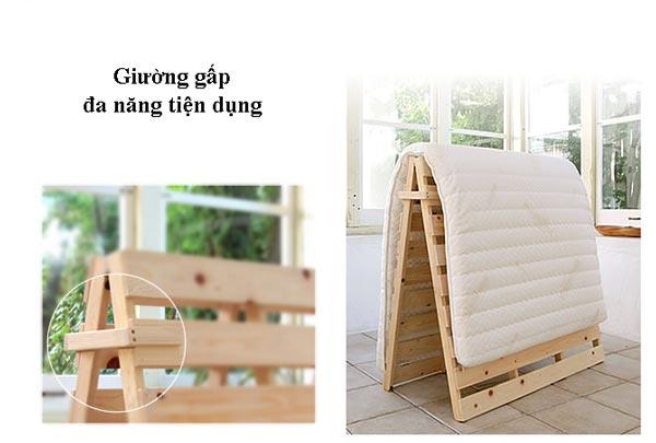 giường gấp bằng gỗ nhỏ dọn