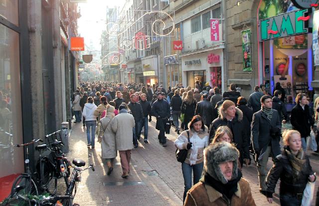 Principais ruas de compras em Amsterdã