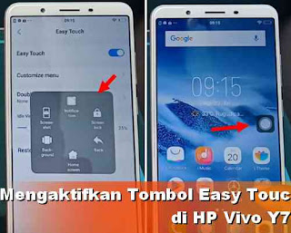 Cara Mengaktifkan Tombol Easy touch Vivo Y71