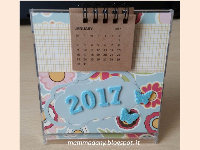 calendario da tavolo 2017 con farfalle tiffany