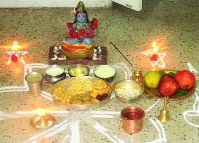 Krishna jayanthi celebration at home
