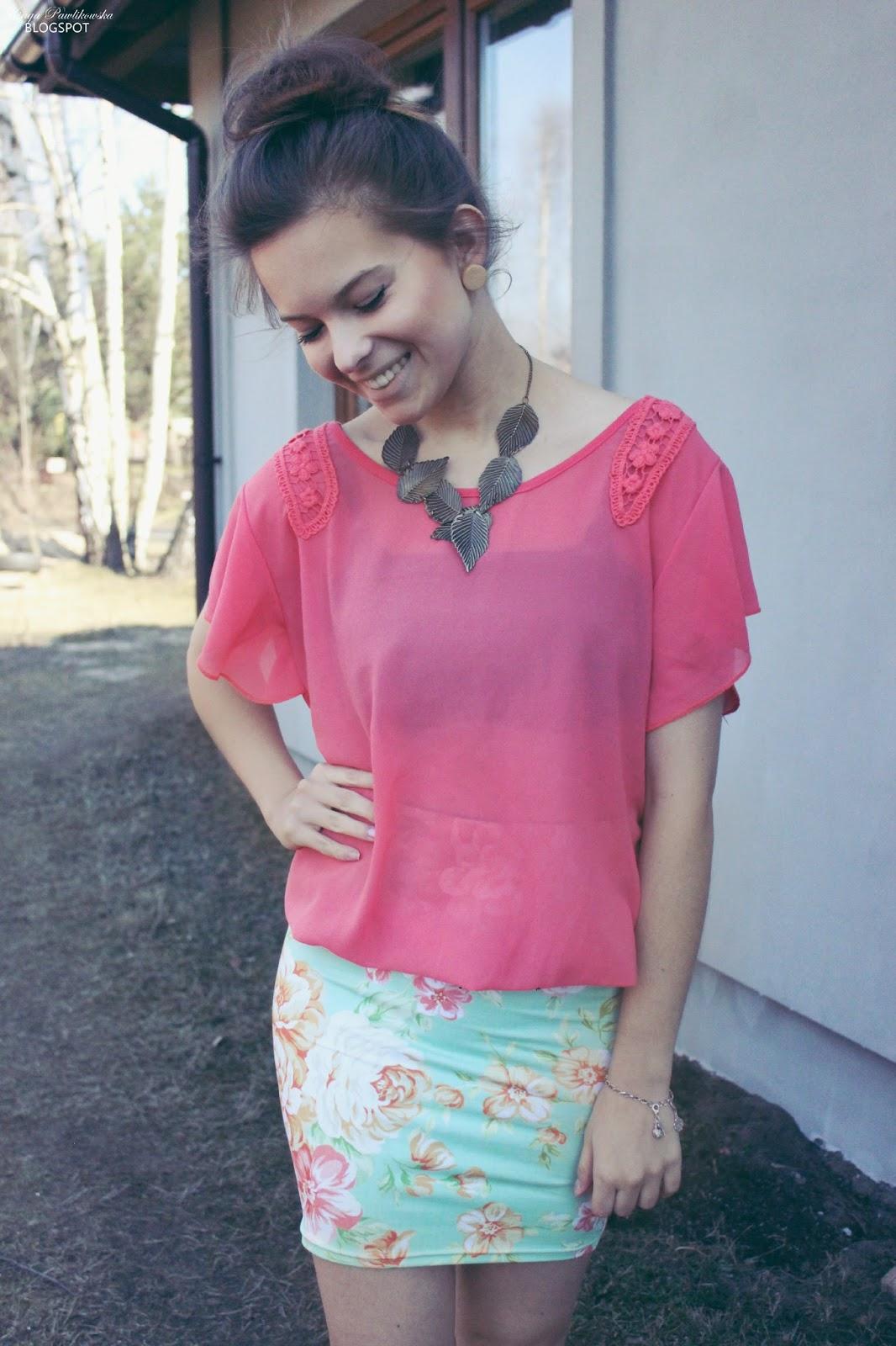 ❀ Floral skirt!