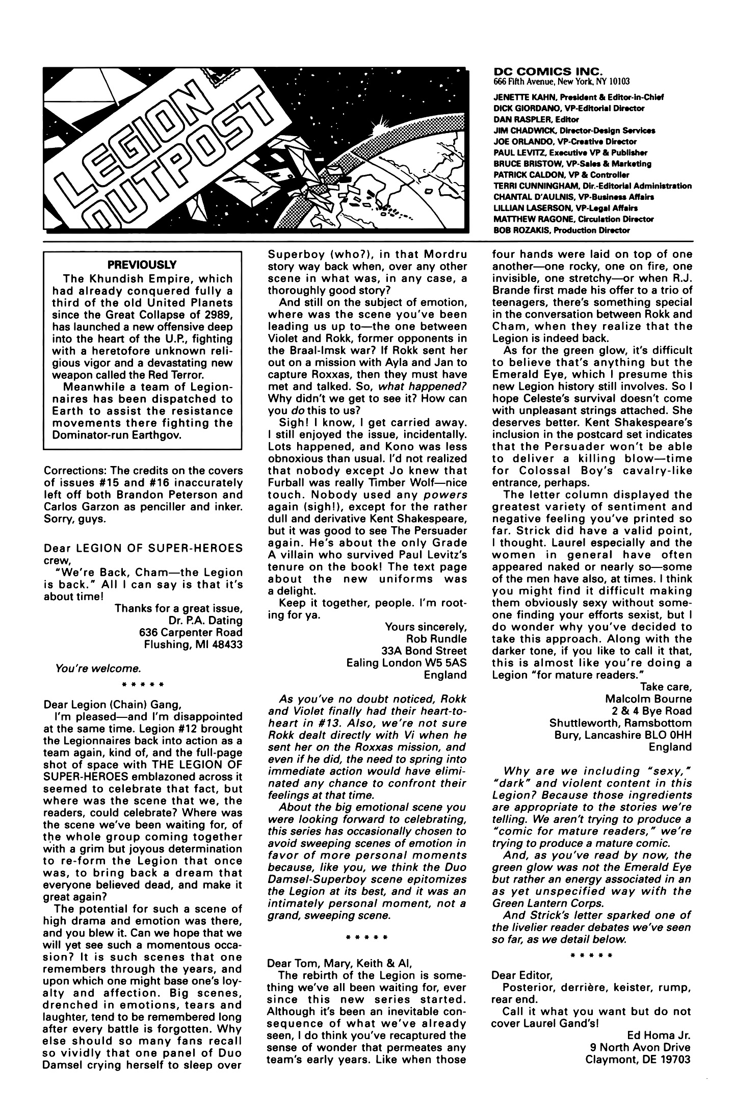 Legion of Super-Heroes (1989) 16 Page 26