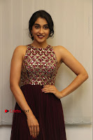 Actress Regina Candra Latest Stills in Maroon Long Dress at Saravanan Irukka Bayamaen Movie Success Meet .COM 0033.jpg