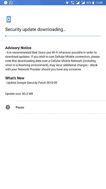Nokia 8 September 2018 Security update