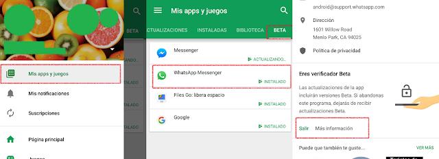 Pasos para salir del modo Beta en Android.