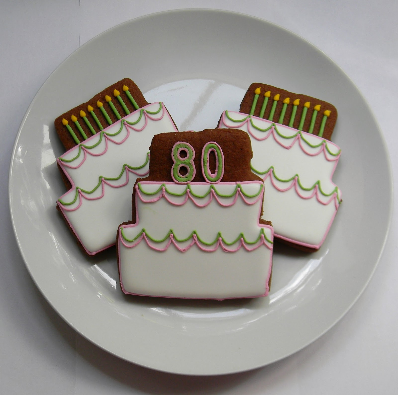 Sweet Melissa's Cookies: Birthday Cookies: Happy 80th
