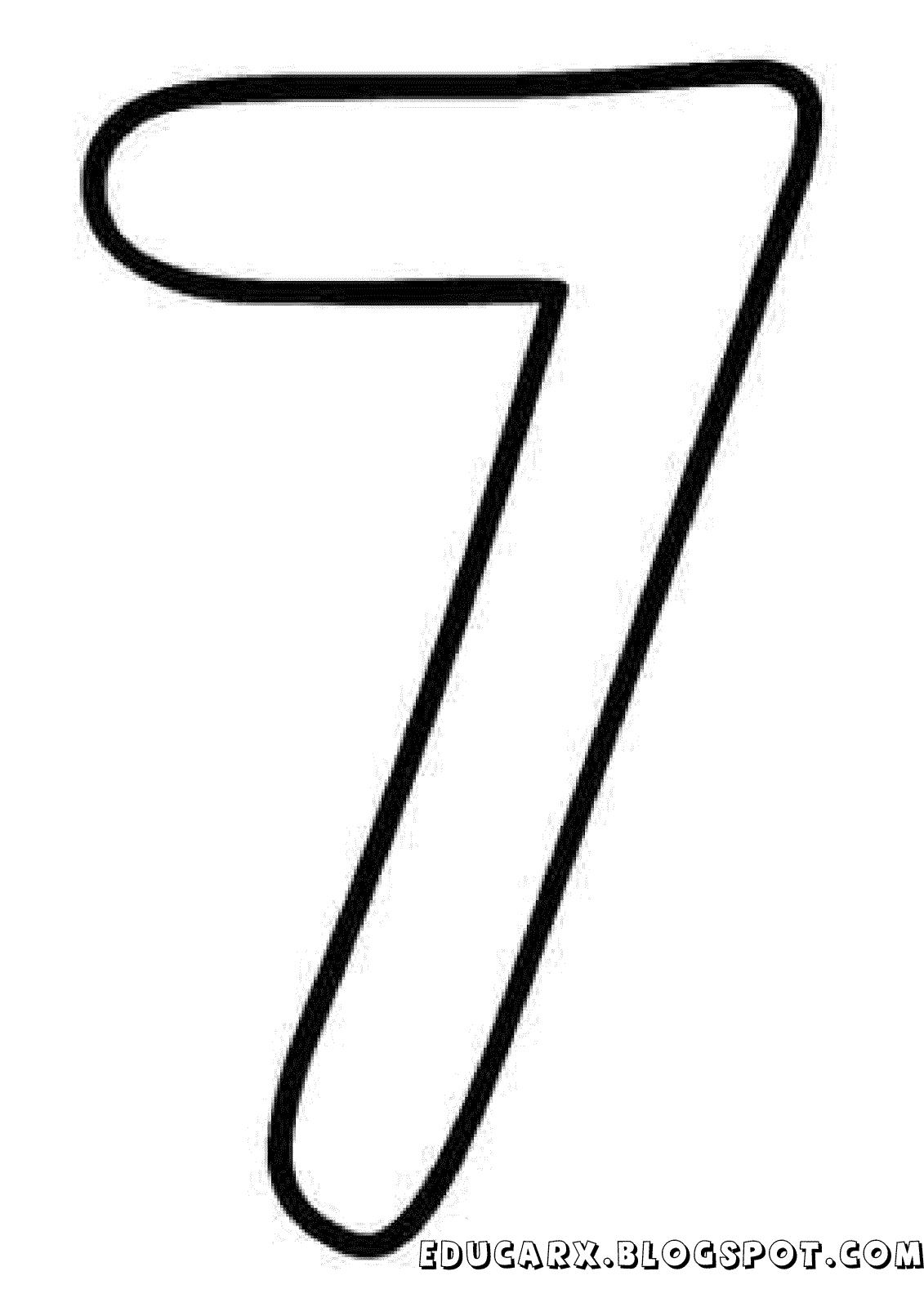 Molde do numero 7