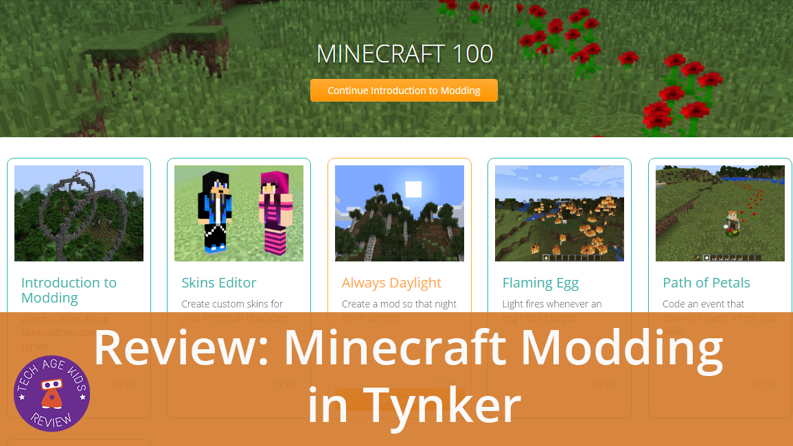 Minecraft Modding in Tynker Review | Tech Age Kids
