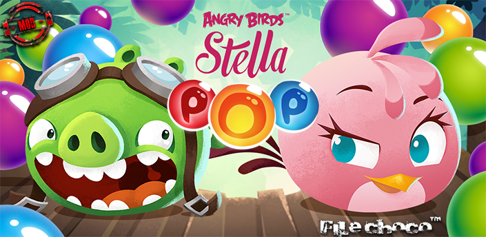 یاری بۆ ئه‌ندرۆید Angry Birds Stella POP (Mod Shopping