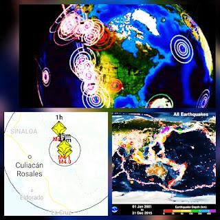 Se registraron 3 sismos atipicos en menos de 40 minutos en durango Mexico.