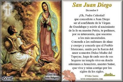 Resultado de imagen para Oraciones a San Juan Diego