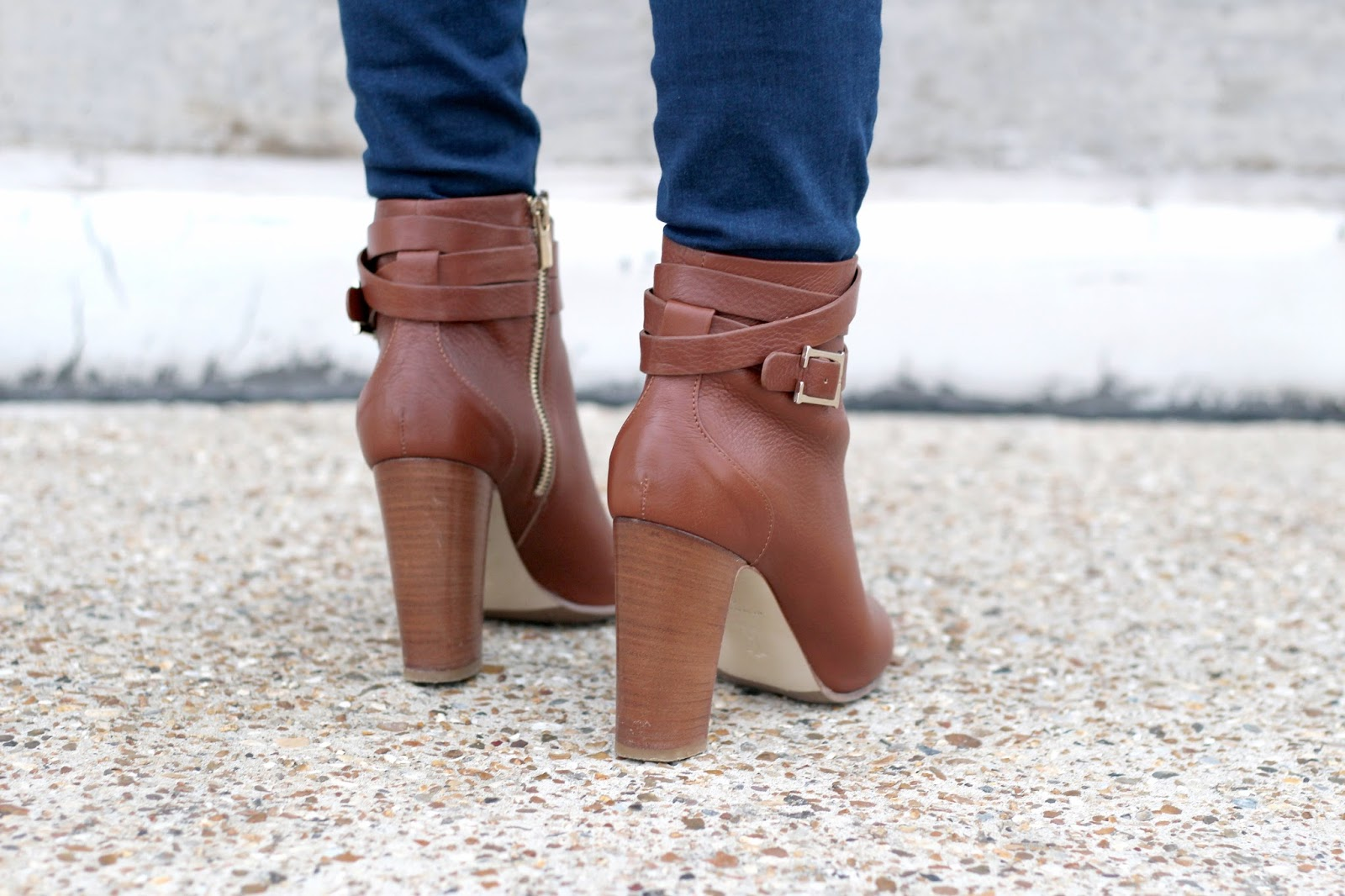 Very high brown ankle boots by Hobbs