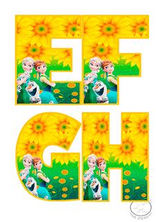 letras de abecedario de frozen