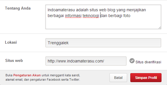 Backlink dari Pinterest