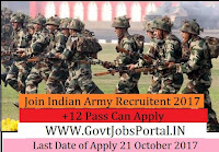 Join Indian Army Recruitment 2017– Soldier General Duty, Soldier Technical