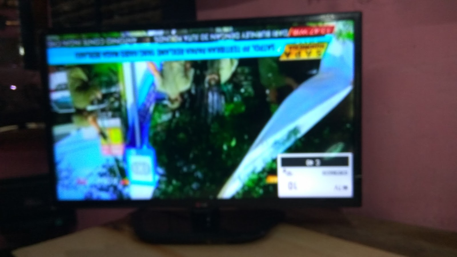 Solder Pecebeq: TV LG 32LN5100 / 32LB530A GAMBAR TERBALIK