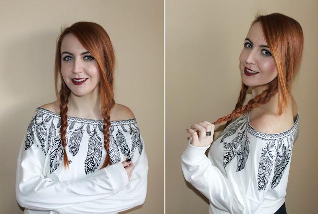 onlajn kupovina, online shop, rosegal iskustvo, studentica, crvena kosa, narancasta kosa, ginger, blogerica, stil, moda, snakebites pirsing, pirsevi, pierced girl, plave oci, bijela majica print