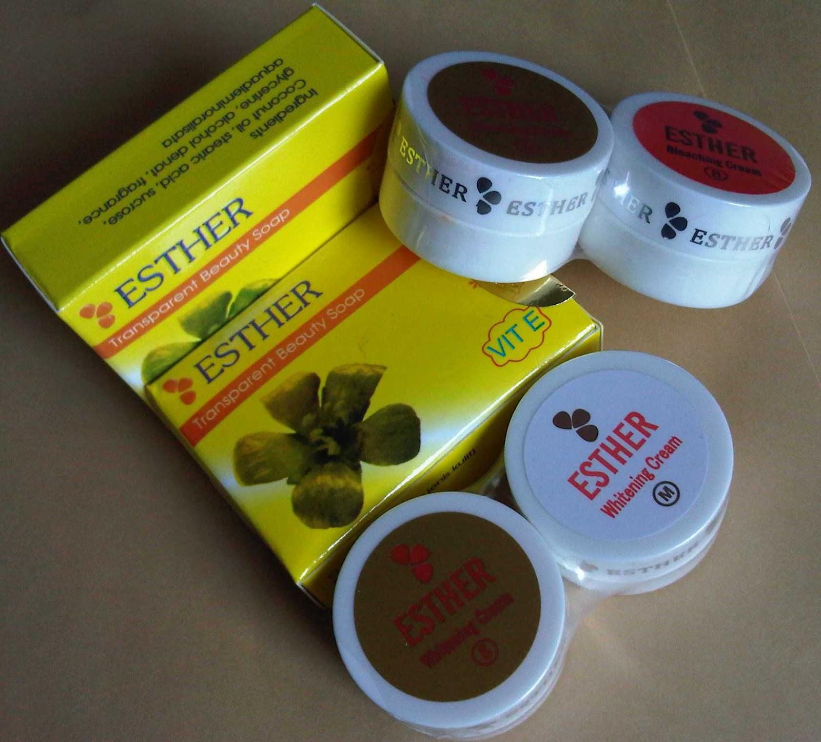 Jual Cream Esther Gold Paket Original Toko Kosmetik Setiawan Termurah Sabun Pemutih Wajah Melon Lightening Glosy