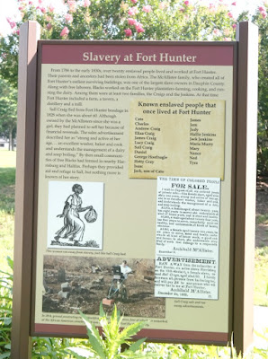 Slavery at Fort Hunter Historical Marker in Harrisburg, Pennsylvania