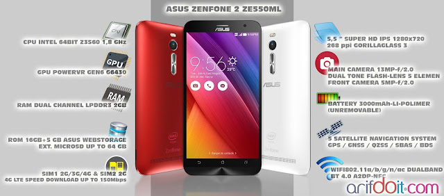 Asus Zenfone 2 ZE550ML fitur high end harga kaki lima