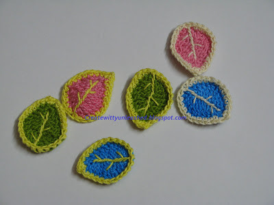 Free pattern Crochet leaves 4