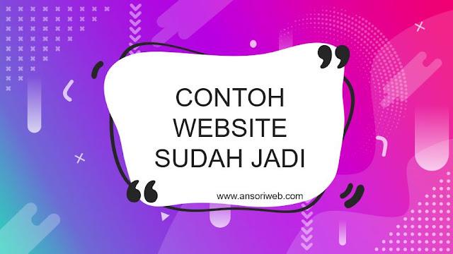Contoh Website HTML yang Sudah Jadi beserta Tampilannya