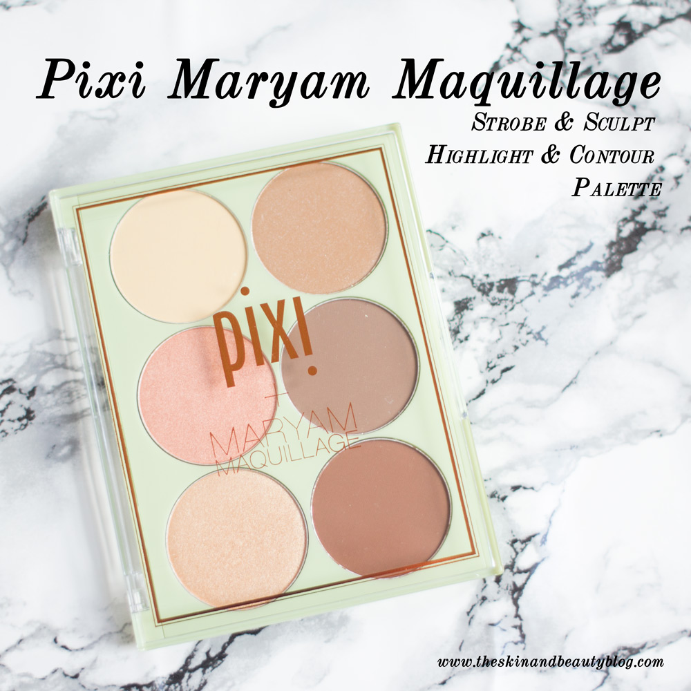 Pixi Maryam Maquillage Strobe & Sculpt Highlight and Contour Palette Review Swatches NC30
