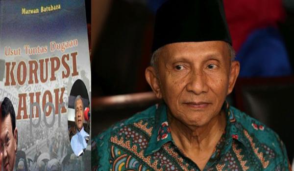 Amin Rais Mulai Lupa Buku Berjudul 'Usut Tuntas Dugaan Korupsi Ahok'