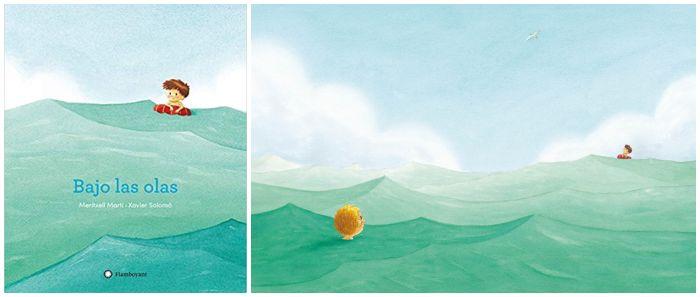 Cuento Bajo las olas Meritxell martí xavier salomó flamoyant