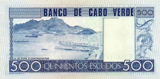 Cape Verde 500 Escudos banknote 1977