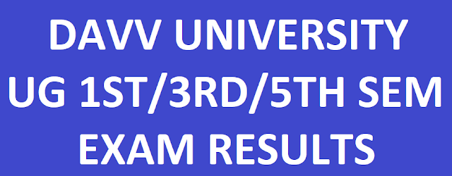 DAVV 1st 3rd 5th Sem Results