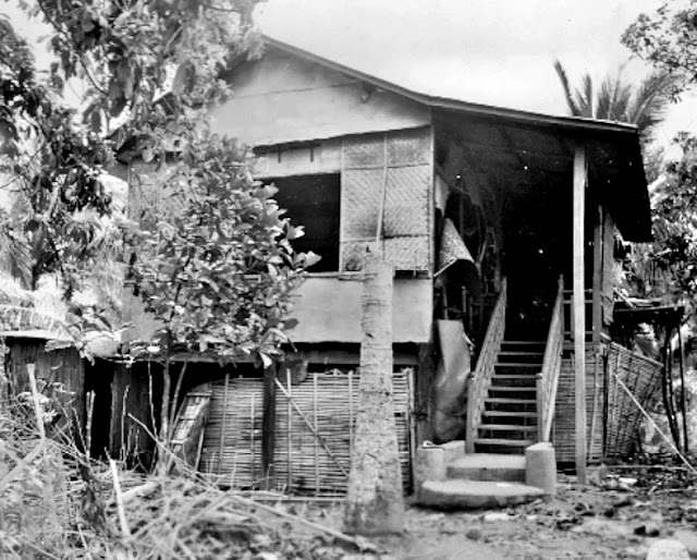 Original caption:  Photograph of the house where the victims were taken.  The picture was included as an attachment to the investigative report on the Japanese war crimes in Lipa.