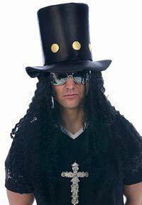 Slash Guns N Roses Top Hat and Wig