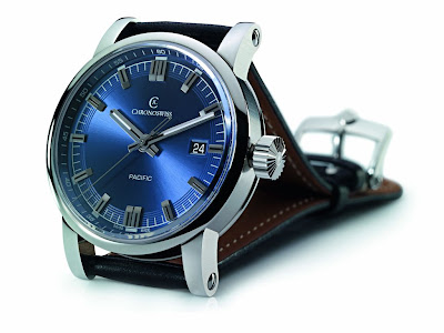 Chronoswiss Pacific Automaticwatch with blue dial