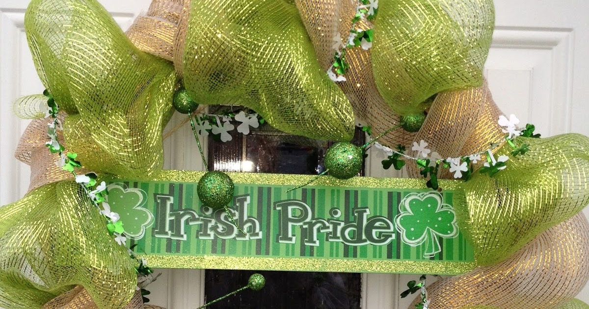 St Patricks Day Deco Wreath on Whats Better Than Snow Day