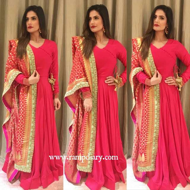 Zareen Khan In Kalki Fashion outfit and Shilpa Puri Jewelry