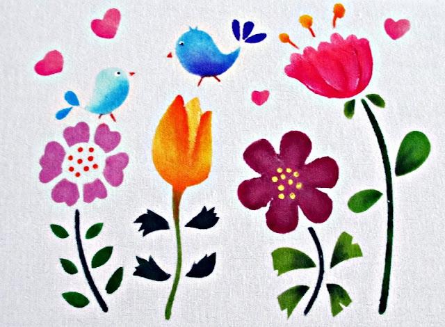 pintura em tecido stencil