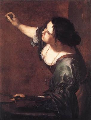 Autoritratto della pittrice Artemisia Gentileschi