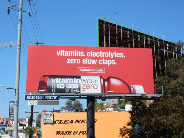 Vitamin Water Hydrate Hustle billboard