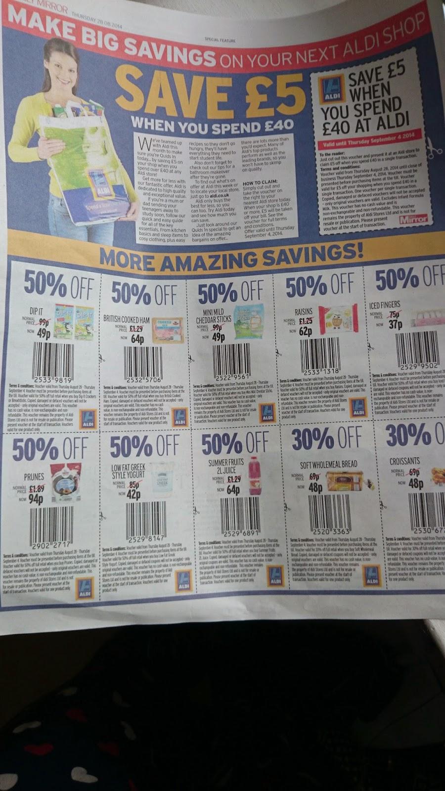 aldi coupons august